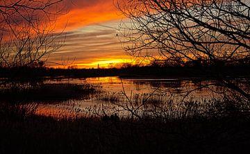 Bourgoyenischer Sonnenuntergang von Kristof Lauwers