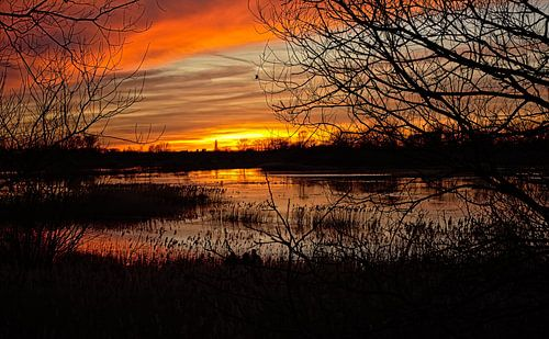 Bourgoyen zonsondergang