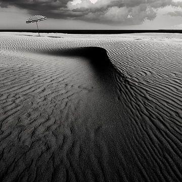 Umbrella on the beach............... van Wim Schuurmans