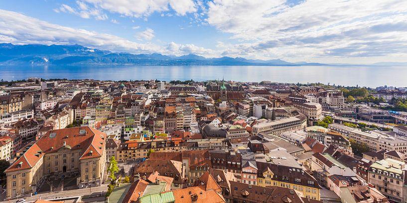 Lausanne am Genfer See in der Schweiz von Werner Dieterich