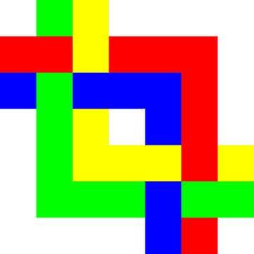 Onder en boven | Permutatie | ID=07 | V=08 | 4xL | P #01-W van Gerhard Haberern