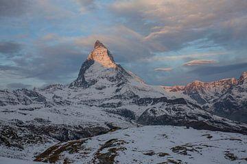 Alpenglühen Matterhorn bei Zermatt von Martin Steiner
