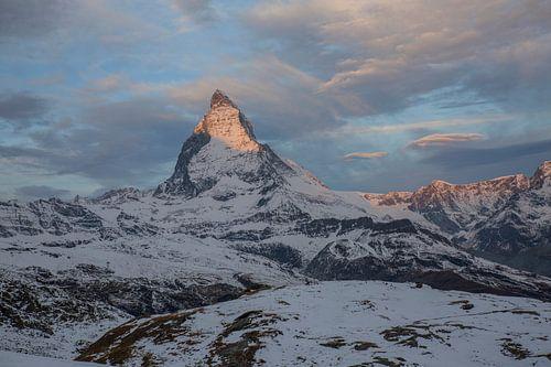 Alpenglühen Matterhorn bei Zermatt