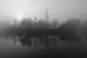 Silhouette in mist van Thijs Friederich