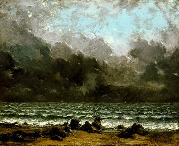 De zee; zeelandschap, Gustave Courbet