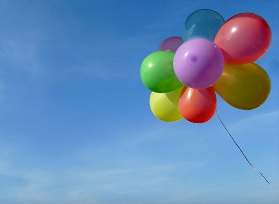 Fliegender Luftballongruß