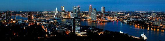 Skyline Rotterdam van Willem Vernes