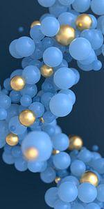 Blaue und goldene Kugeln von Jörg Hausmann