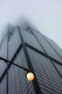 Willis Tower (Chicago) in de mist van Cathy Janssens
