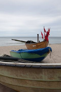 Ostsee - Fischerboote am Strand von Kölpinsee (Usedom) von t.ART