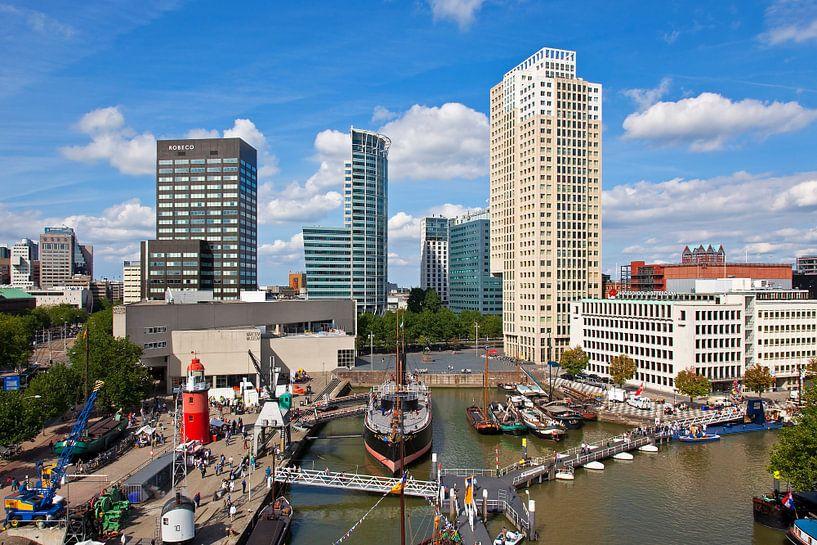 Leuvehaven Rotterdam met Museumschip Buffel van Anton de Zeeuw