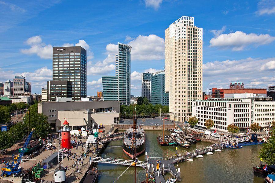 Leuvehaven Rotterdam met Museumschip Buffel