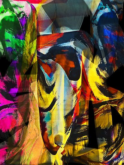 Abstract face van Gabi Hampe