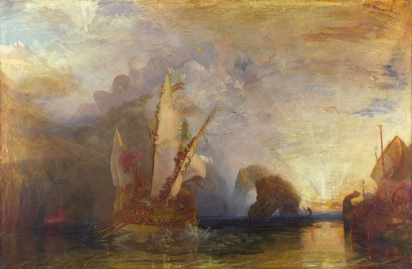 Ulysses deriding Polyphemus - Homer's Odyssey, Joseph Mallord William Turner von Meesterlijcke Meesters