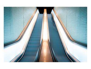 L'escalator en haut