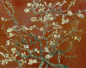 Amandelbloesem van Vincent van Gogh (terracotta)