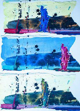 Figuurstrepen in blauw van Klaus Heidecker
