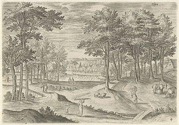 Hans Collaert (I), Ansicht von Ixelles