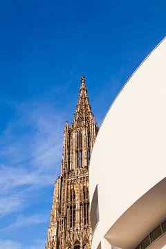 Ulm Minster en gemeentehuis in Ulm van Werner Dieterich