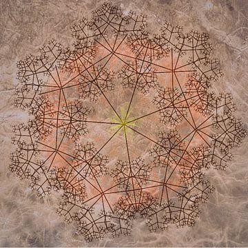 Mandala chique, rood-bruin van Rietje Bulthuis