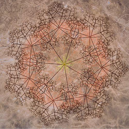 Mandala chique, rood-bruin