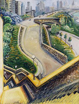 New York Riverside Drive, Paul Kleinschmidt - 1934 van Atelier Liesjes