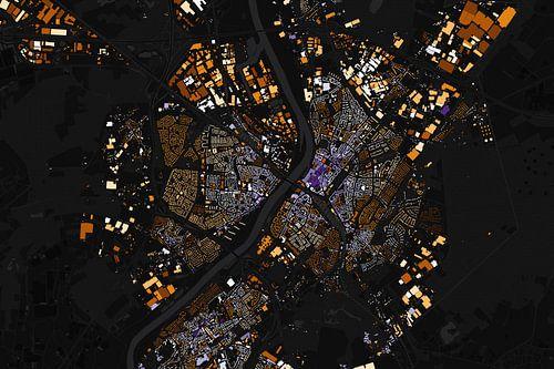 Kaart van Venlo abstract van