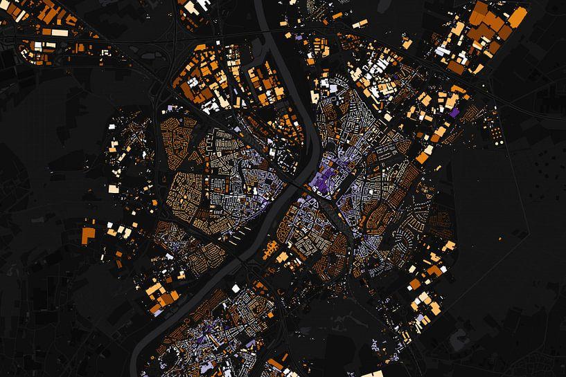 Kaart van Venlo abstract van Stef Verdonk