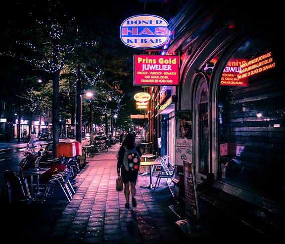 Rotterdam Neon Light by night
