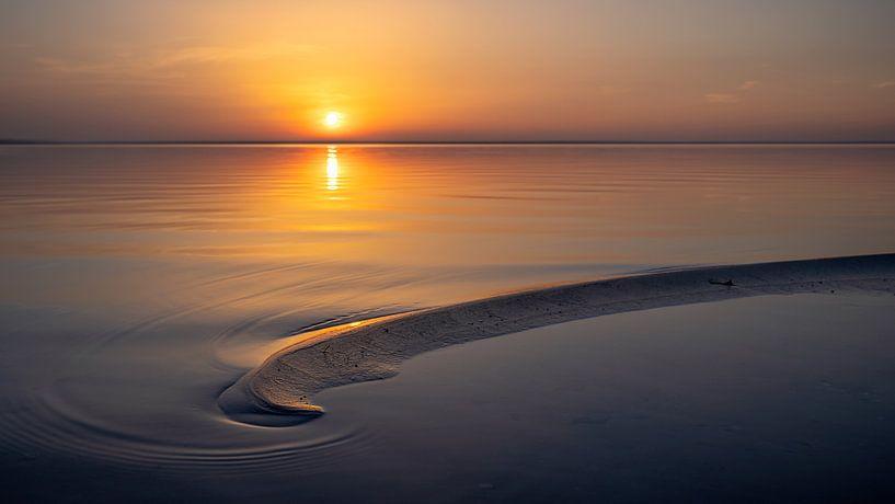 Zonsondergang Veluwemeer strand Harderwijk van Martijn van Dellen
