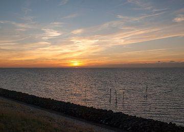 Avond op de Afsluitdijk von Rinke Velds