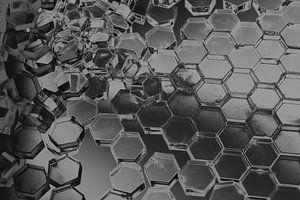 Hexagon-Serie - Vom Chaos zur Ordnung von WijlensAanDeWand