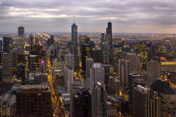 Chicago skyline by night von Michèle Huge
