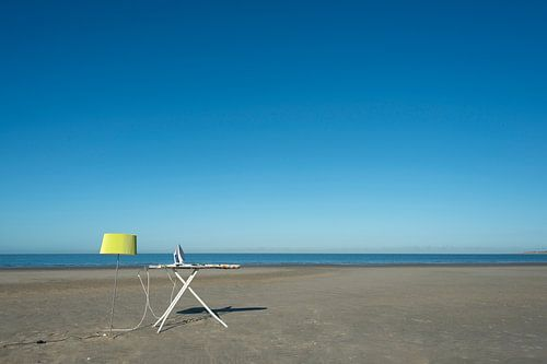 Ironing on the beach