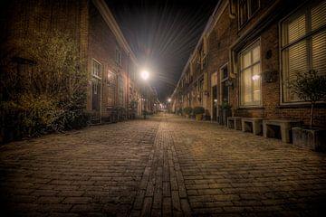 Straat in Oud-Voorburg van Eus Driessen