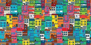 Braziliaanse Favela van Richard Laschon