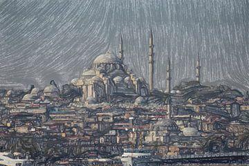 Oude stad van Istanbul van Frank Heinz