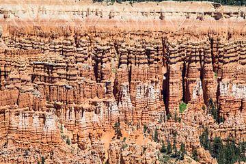 Rotswand in de Bryce Canyon van Hans Jansen