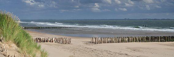 Panorama strand Vlissingen