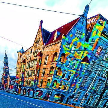 Colorful Amsterdam #102 van Theo van der Genugten