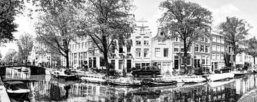 Nummer 101 Panorama 2 Egelantiersgracht B&W Artistic sur Hendrik-Jan Kornelis