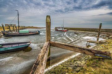 Het kleine haventje van Laaxum, Friesland sur Harrie Muis