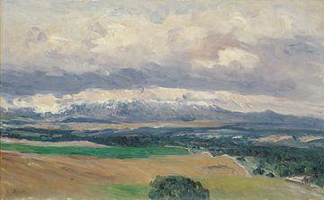 Aureliano de Beruete~Uitzicht op de Guadarrama Mountains van El Plant237o;o
