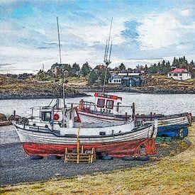 Borgarnes, IJsland van Frans Blok