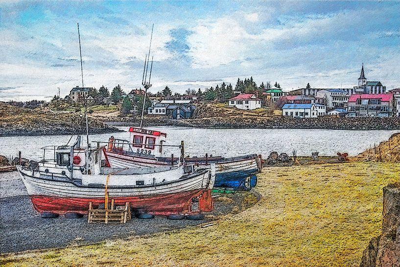 Borgarnes, Island von Frans Blok