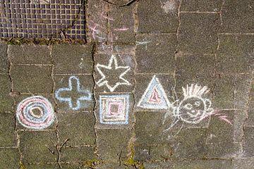 straattekening van Arnoud Kunst
