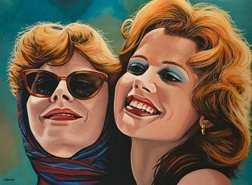 Susan Sarandon und Geena Davis als Thelma & Louise Malerei von Paul Meijering