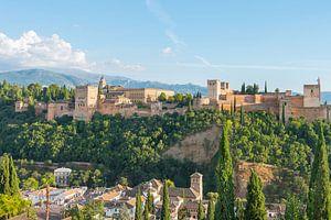 Alhambra Paleis en Alcazaba, Alhambra en Albaycin, van