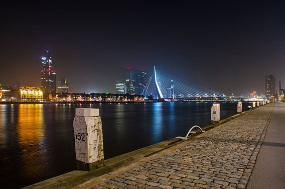 Rotterdam - Erasmusbrug - Boompjeskade van Ricardo Bouman | Fotografie