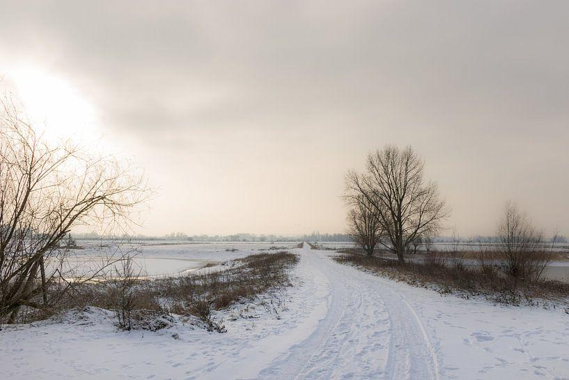 Sneeuwlandschap bij Nijmegen van Patrick Verhoef